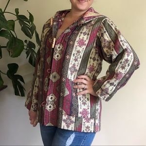 Vintage Guatemalan tapestry toggle jacket
